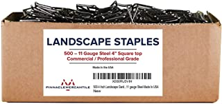 Pinnacle Mercantile 500-4 Inch Garden Landscape Fabric Anchor Staples Thick 11 Gauge Steel Made in USA