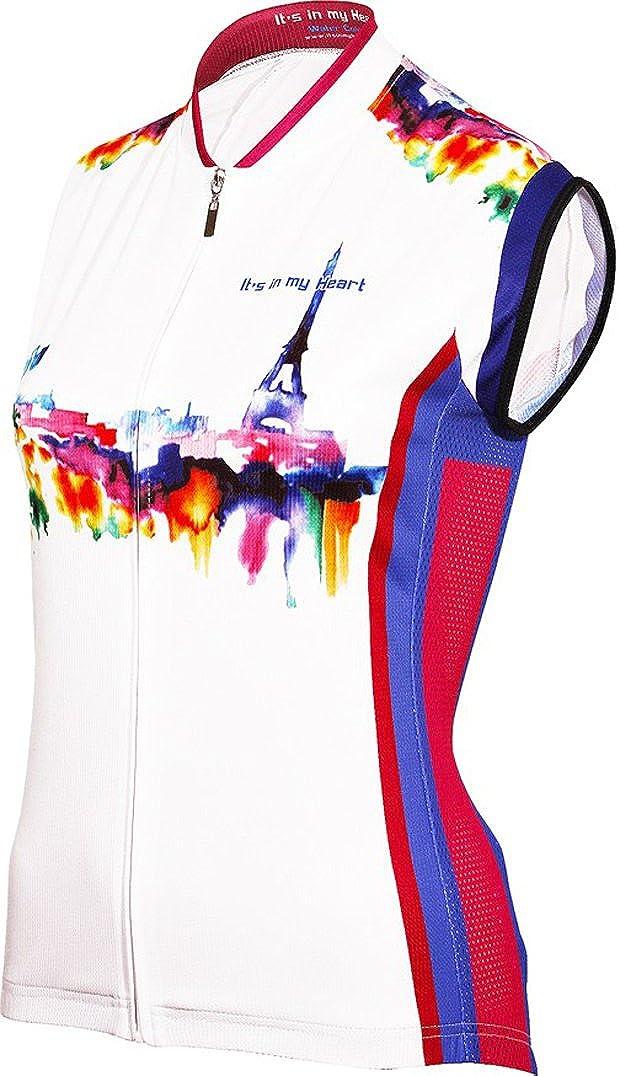 Fashionable Paris Watercolor Women's Sleevless Full - Length cheap M Jersey Zipper