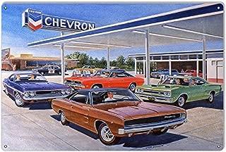 Chevron Gas Station Reproduction Garage Sign by Jack Schmitt 12x18