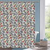 N\A Moderne Duschvorhang Autos Weihnachten themenorientierte Fahrt Duschvorhang