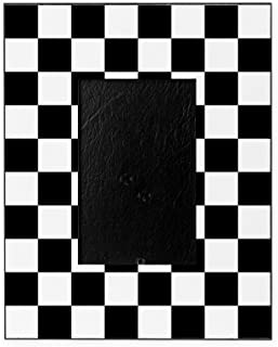 checkered picture frame