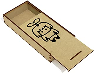Azeeda 'Sprout Man' Wooden Pencil Case / Slide Top Box (PC00015078)
