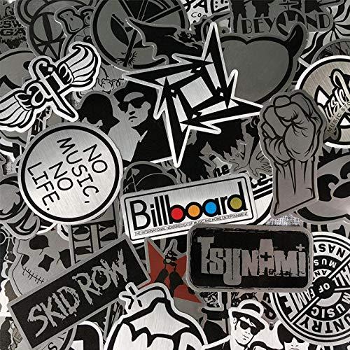 YMSD 50 unids personalizada Rock Music Guitar Portátil Etiqueta Europea y Americana Moda Marca Equipaje Trolley Case Sticker Impermeable