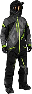FXR Mens CX Lite Monosuit (Charcoal/Black/Lime - X-Large)