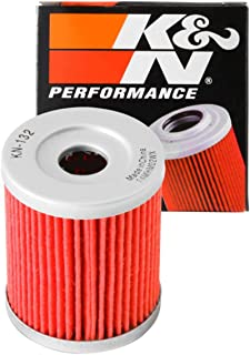 K&N Motorcycle Oil Filter: Premium High Performance Oil Filter designed to be used with synthetic or conventional oils fits some Suzuki, Arctic Cat, Kawasaki, models Oil Filter KN-132