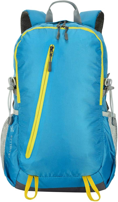 HUDUI Wasserdichtes Camping Wandern Sportrucksack Reisetasche Rucksack Bergsteigerausrüstung 28L Mnner und Frauen Mnner Jugendrucksack