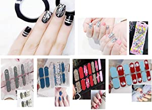 6 Different Sheets Nail Design Manicure Nail Polish Strips Nail Wraps Gel Nail Stickers/Bling Bling Cubic Stickers 1 (AA)