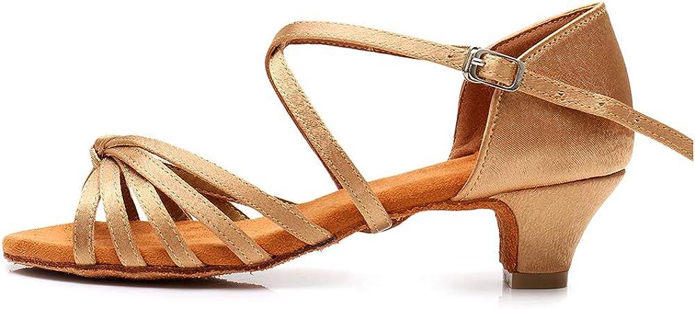 HROYL online shop Women's Satin Latin Dance Perfo Ballroom Classic Salsa Shoes Tango