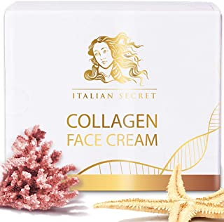 Collagen Cream for Face - Made in ITALY - Anti Aging Facial Moisturizer Firming Against Wrinkles and Fine Lines Natural Ingredients Vitamin E, Hyaluronic Acid, Natural Grape Seed, Papaya Extract
