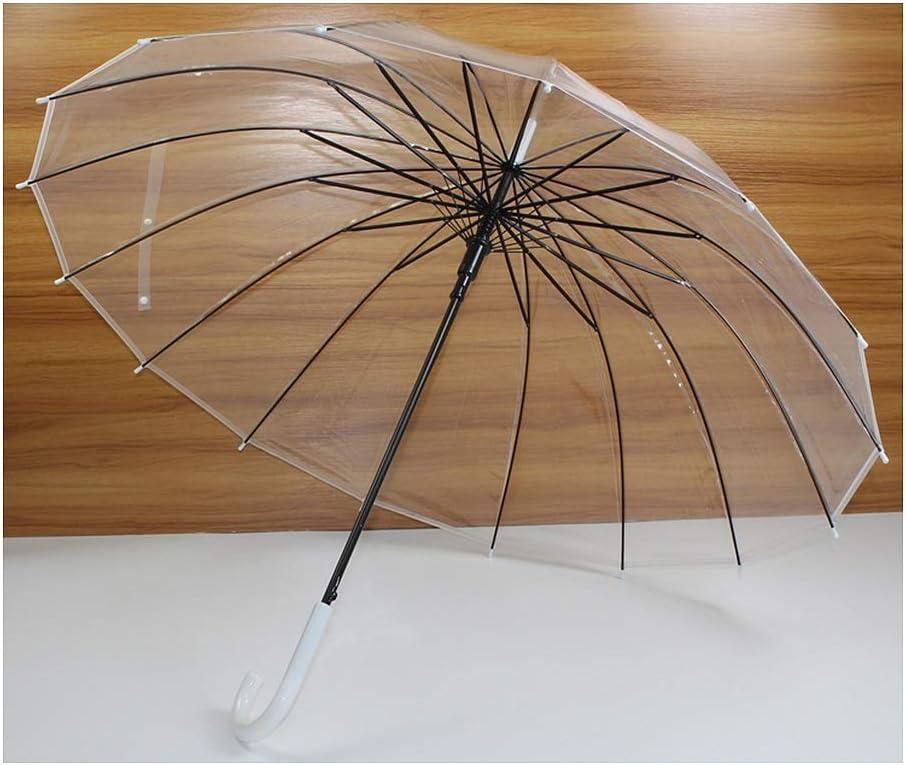 Selling rankings ZLSP Large Clear Umbrella Transparent Umbrellas Max 65% OFF Handle J Automat