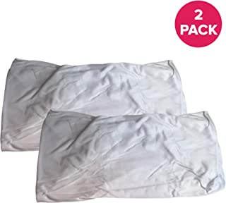 Think Crucial Replacement Pool Bags - Compatible with Aquabot Part # 8111 & 8101 - Aquabot Washable & Reusable Pool Filter Bag - Home or Commercial Pool Use - 7.9