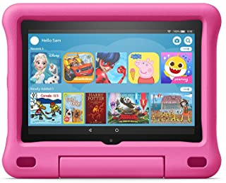 """Fire HD 8 Kids tablet, 8"""" HD display, ages 3-7, 32 GB, Kid-Proof Case, Pink"""