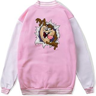 VJJ AIDEAR Looney Tunes Tasmanian Devil Taz Baseball Uniform Jacket Sport Coat Boys' Long Sleeve Hoodie Outwear Black