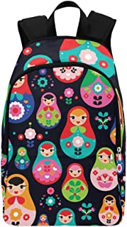 Cute Matryoshka Russian Doll Casual Daypack Travel Bag College School Backpack for Mens and Women