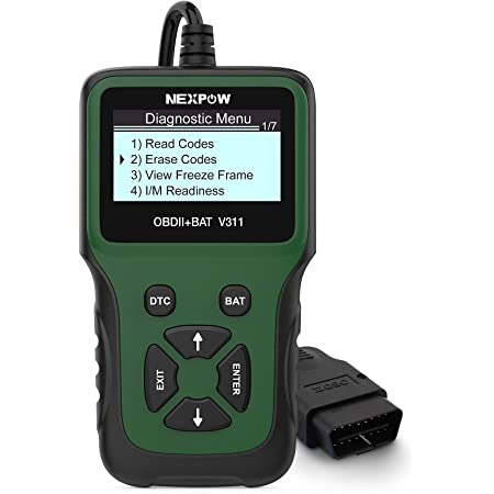 NEXPOW OBD2 Scanner, V311 Automotive Engine Fault Code Reader, Car Diagnostic Scan Tool with Battery Test Tool for All OBD II Protocol Cars Since 1996