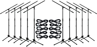 Musician's Gear Tripod Mic Stand with 20 Foot Mic Cable 10-Pack
