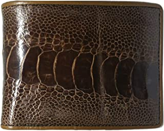 ostrich leg leather wallet