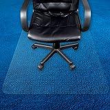 Transparente Bodenschutzmatte in zahlreichen Größen | passgenauer Schutz von Teppichböden | Unterlegmatte unter Bürostühle, Fitnessgeräte etc. (100x140cm)