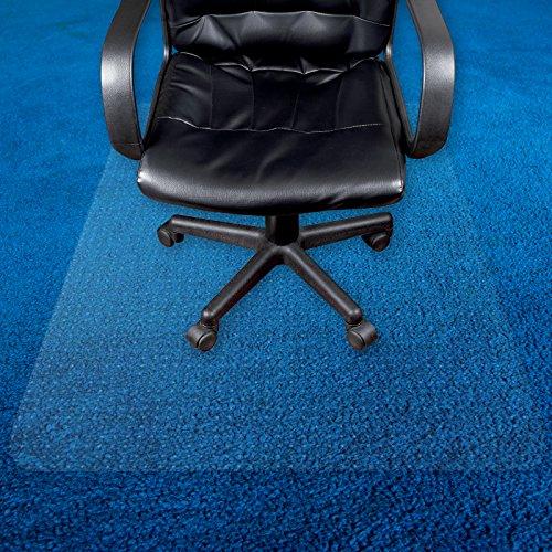 Transparente Bodenschutzmatte in zahlreichen Größen | passgenauer Schutz von Teppichböden | Unterlegmatte unter Bürostühle, Fitnessgeräte etc. (100x100cm)