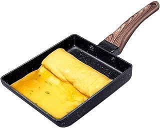 Hanolly 卵焼き フライパン 直火・IH対応 15.5CM×18.5CM たまごやき フライパン ih デュラブルコート フッ素樹脂加工 焦げ付きにくい お手入れ簡単 KPS1A