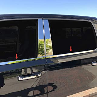 Made in USA! Works with 2019 Dodge Ram 1500 Crew Cab 4PC Stainless Steel Window Sill Cover