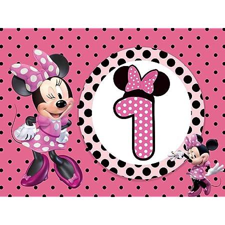 Photo Props Birthday Banner Disney Banner. Minnie Mouse Birthday Backdrop Disney Custom Theme Custom Sizes Disney Personalized Banner