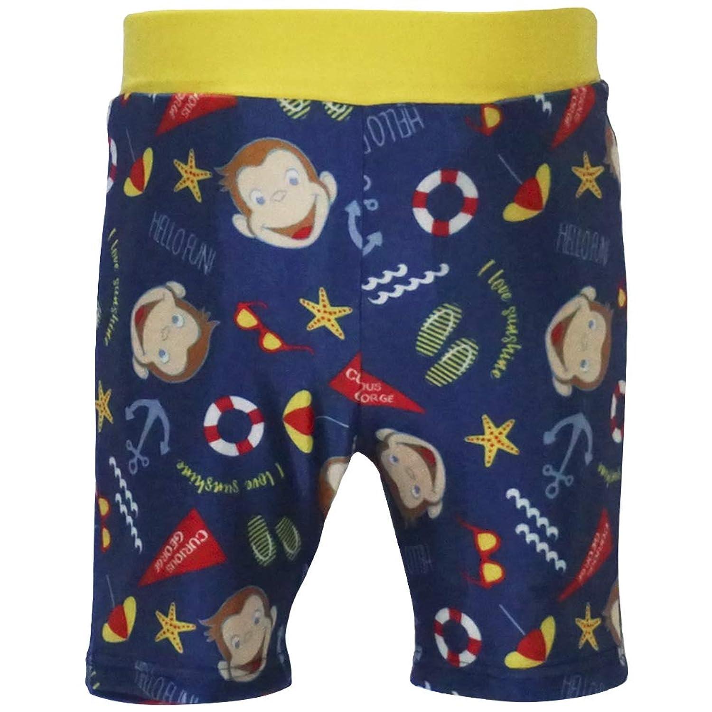 2019年 夏物 おさるのジョージ 男児 5分丈 総柄 海水パンツ Curious George
