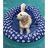 Ginkago Juguete Inflable de la Piscina del Flotador de la Piscina del Animal doméstico del Juguete (Blue)