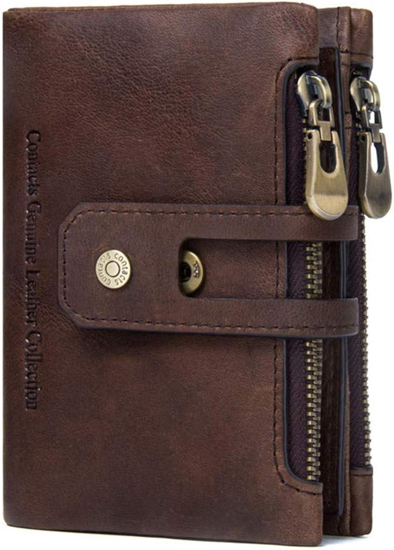 Xuanbao Herrenbrieftaschen Doppel-Reißverschluss-Schnalle Herren Geldbörse Leder Retro Casual Casual Casual Geldbörse Krotitkarten-Geldbörse B07PVNH4Z6 a5bb1c