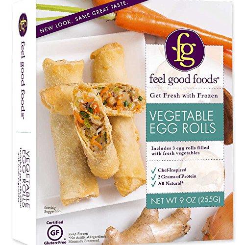 FEEL GOOD FOODS Egg Rolls Gluten Free Vegetable, 9 Ounce (Pack of 9)