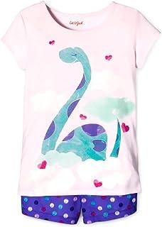 dda462709b6 Cat Jack TM Girl s Pink Dinosaur Dino Purple Dot Pajama Shorts Set
