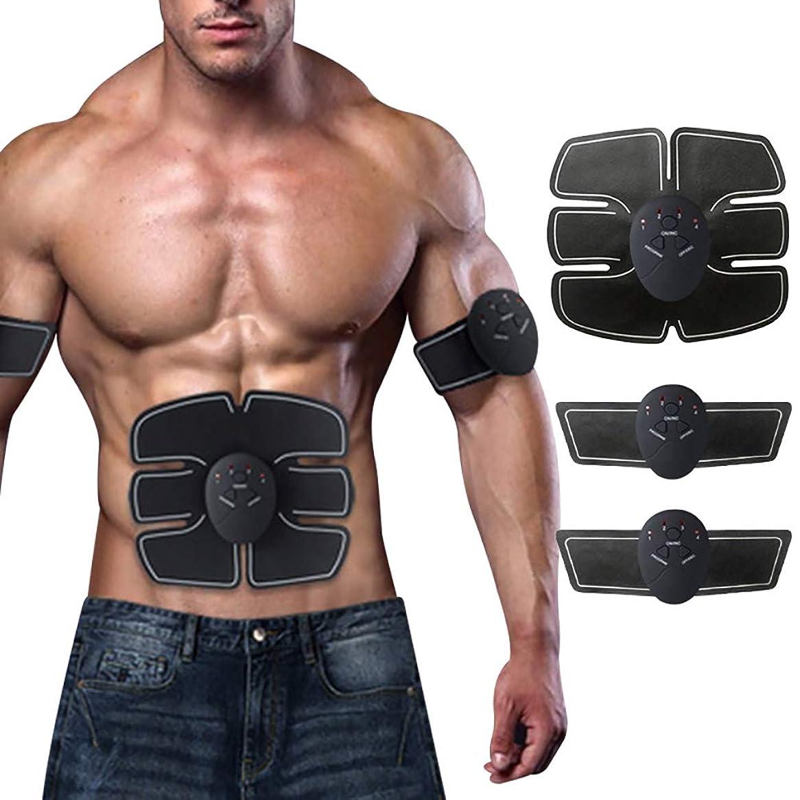 見習い二年生隠スマートフィットネス腹部器具、EMSテクノロジー腹部および腕筋刺激トレーナー筋肉運動怠Exerciseな家族フィットネス機器,A,Charging