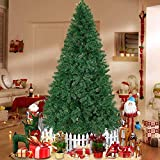 U-miss 7.5ft Artificial Holiday Christmas Tree for Home, Office, Party Decoration, More Than 1,450 Tips, Easy Assembly, Metal Foldable Base