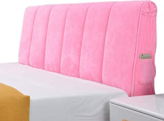 HDGZ Funda para Cabecero De Cama Cubierta De Cabecera Elástica Cubierta para Cabecero De Cama A Prueba De Polvo Todo Incluido para Decoración (Color : Pink, Size : 50 * 190cm)