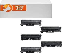 Shop At 247 Compatible Toner Cartridge Replacement for Canon 125, 3484B001AA, CRG-125 ImageClass LBP6000, LBP6030w, MF3010 (Black, 5-Pack)