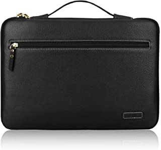FYY 14-15.6 inch Laptop Sleeve Case Bag for 15 inch MacBook Pro, Premium Leather Ultrabook Notebook Carrying Case Bag for ...