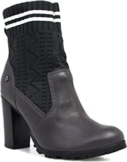 Bota Feminina Cravo e Canela Ankle Boot Salto