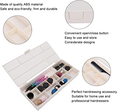 FastUU Clip Storage Box, Partition Storage Box Storage Box, for Professional Hairdressers Storage Container Hairdressing Acce