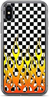 iPhone XR Pure Clear Case Cases Cover Checkered Flames