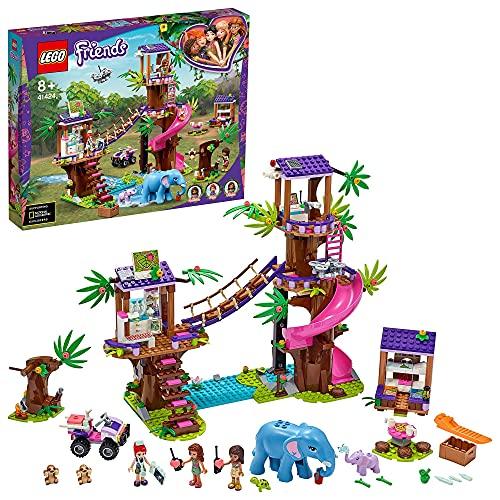 LEGO 41424 Friends Tierrettungsstation im Dschungel Bauset mit Baumhaus-Tierarztpraxis