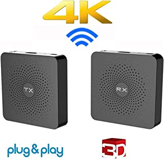 MEASY W2H 4K Wireless HDMI Extender Transmitter and Receiver Support Real 4K Video Transmission Without Compression 30m Pl...
