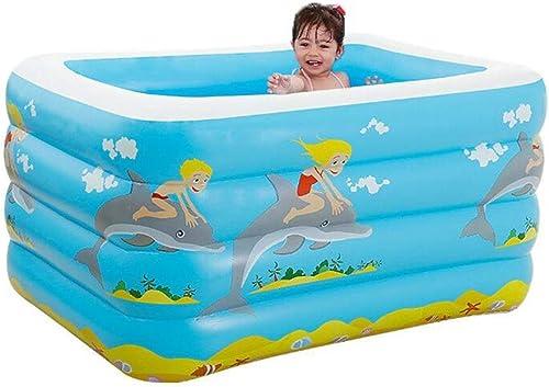 SWIM Aufblasbarer Swimmingpool, Aufblasbares Pool-Wassersport-Spielwaren Der Kinder, Familien-Swimmingpool (Farbe   A)