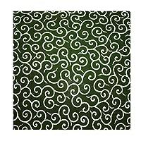 唐草模様 風呂敷 綿100% 日本製 緑色 紙袋入り (二四巾)