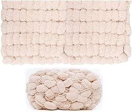 Kriser DIY Hilo de Bufanda de algodón Suave Natural Hilo Grueso para Tejer Crochet bebé Tejido de Hilo de Lana 34