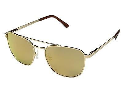SunCloud Polarized Optics Fairlane (Gold/Polarized Sienna Mirror Lens) Athletic Performance Sport Sunglasses