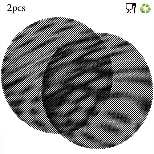 Donshvi 2pcs Antihaft-BBQ-Netzmatten, 36cm Runde Grillmatte Hitzebeständige und Wiederverwendbare Grillmatte