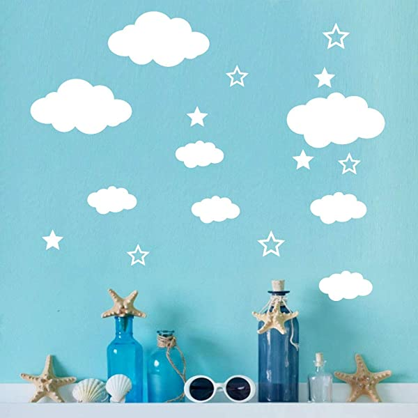 WOCACHI Wall Stickers Decals DIY Clouds Wall Decals Children S Room Home Decoration Art Art Mural Wallpaper Peel Stick Removable Room Decoration Nursery Decor