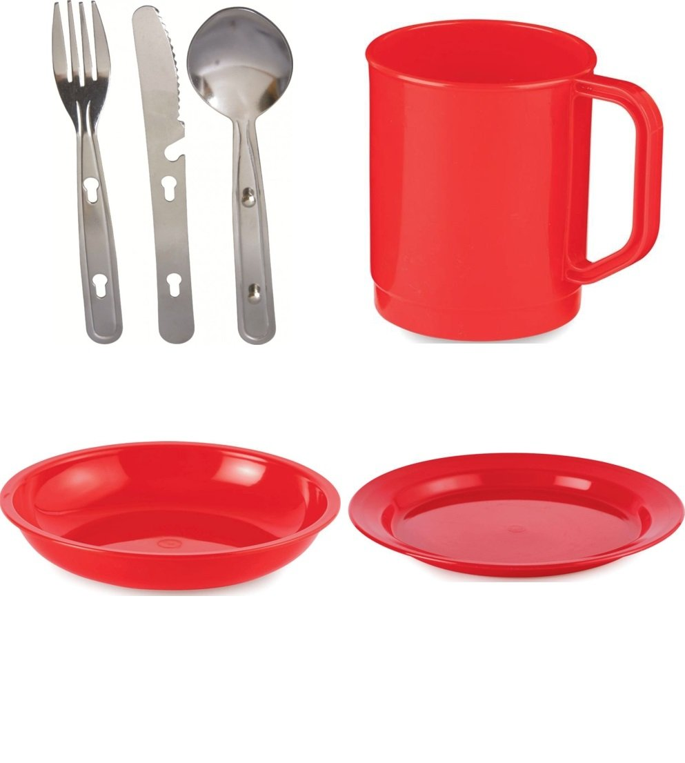 Scout and Girl Guide Polycarbonate Tableware Set Bowl Mug /& Cutlery Med Blue Plate