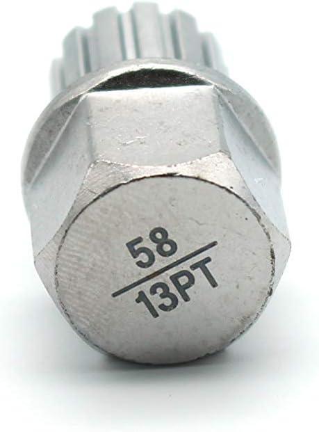 TEMO ABC1//11PT Wheel Lock Anti-theft Lug Nut Screw Removal Key Socket on VW AUDI