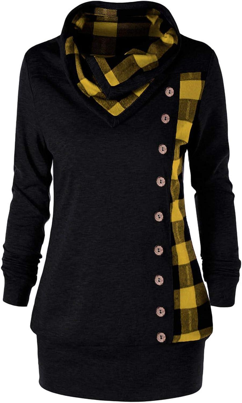 Pullover Sweaters for Women Knit,Wamajoly Fall Sweaters Trendy Turtleneck Asymmetric Hem Tops Pullover Sweatshirt
